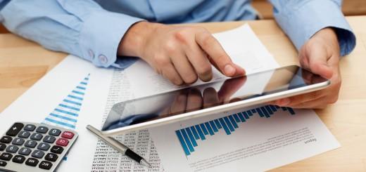 Businessman invest with digital tablet