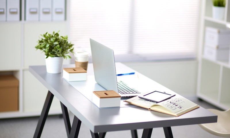 designer working place at home with computer